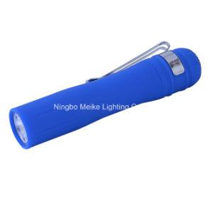 Promotion Gift Plastic Rubber 0.5watt Mini Flashlight (MK-6603)
