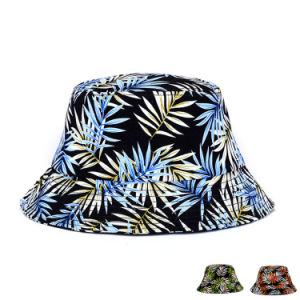 Lady Fashion Printed Cotton Twill Beach Bucket Hat (YKY3207) pictures & photos