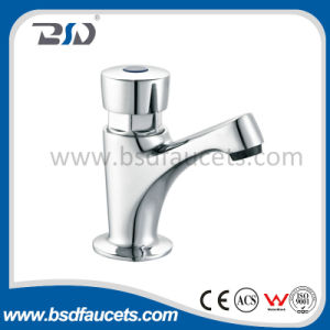 Time Delay Copper Water Tap Chrome Plated Push Button Faucet pictures & photos