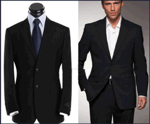 Top-Quality Men′s Notch Lapel Wrinkle-Free Formal Business Suits pictures & photos