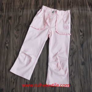 100% Cotton Fashion Pure Color Girl′s Casual Trousers