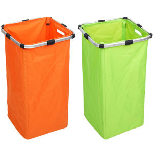 600d Modern Double Aluminum Laundry Basket (SP-322) pictures & photos