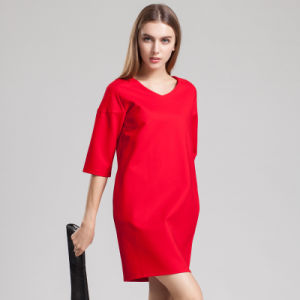 OEM Fashion European Style Office Ol Lady Smart Casual Dress pictures & photos