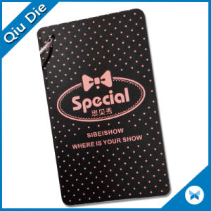 Three Pieces Eco-Friendly Black Paper Hangtag for Clothing pictures & photos