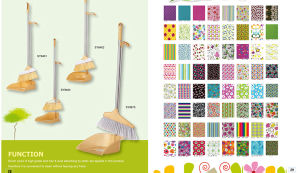 Long Handle Floor Brooms with Dustpan