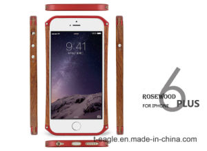 Foreign Selling Side of The Metal Frame Wooden Mobile Phone Case for iPhone6 Plus pictures & photos