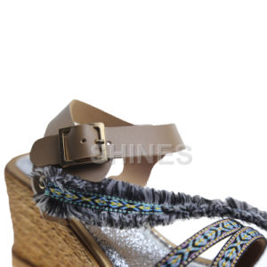 High Heel Fashion Sandal for Women with Braided Strap pictures & photos