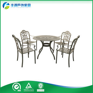 Antique French Style Furniture Powder Coated Cast Aluminum Furniture (FY-050ZX)