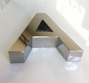 Architectural Stainless Steel Polished Reverse Fabricated Channel Letter pictures & photos