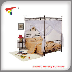 New Design European New Style Metal Queen Canopy Bed (HF042) pictures & photos