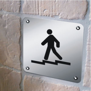 High Quality Directional Metal Toilet Sign (J19) pictures & photos