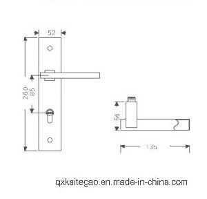 (KTG-8512-014) Satin Finish Stainless Steel Door Lock for Entrance Door pictures & photos