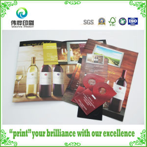 Coated Paper Printing Brochures Embossing with for Wine pictures & photos