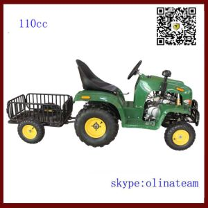 Hot Sale China Cheapest 4 Wheel 110cc Mini Farm Tractor with Trailer