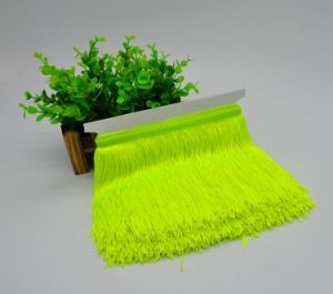 Hot Sell High Quality Fluorescence Color Fringe Curtain Lace for Latin Dress pictures & photos