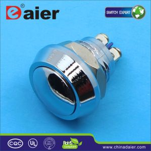 Waterproof Momentary Metal Dome Push Button Switch (GQ-12B) pictures & photos