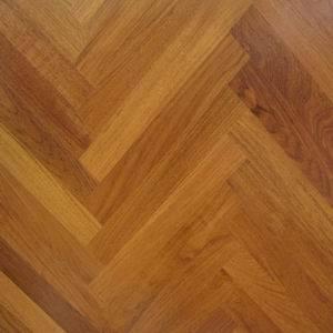Guangzhou Factory Brazilian Teak Classic Herringbone Parquet Flooring Design pictures & photos