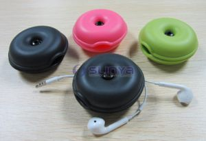 Factory Supply Round Soft TPR Material Turtle Earphone Cable Winder pictures & photos