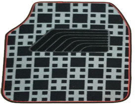Carpet Car Mat Flat Foot Pad Check Pattern