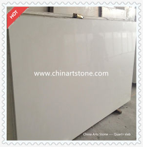 Chinese White/ Grey/ Glass Chip Artificial Marble Quartz for Countertop and Floor Tile pictures & photos