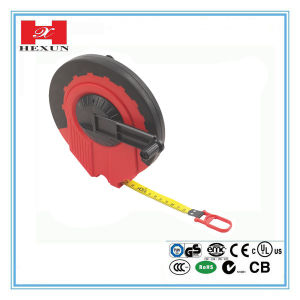 Rubber Coated with Three Locks Steel Measuring Tape pictures & photos