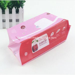 Wet Wipe Packaging Bag with Resealable Sticker pictures & photos