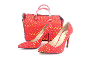 2016 African Wax Fabrics Ladies Shoes and Matching Bags (Y 60) pictures & photos