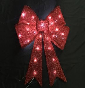 Christmas Red Velvet Decoration Bow pictures & photos