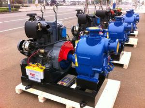 Self Priming Trash Sewage Diesel Engine Water Pump pictures & photos