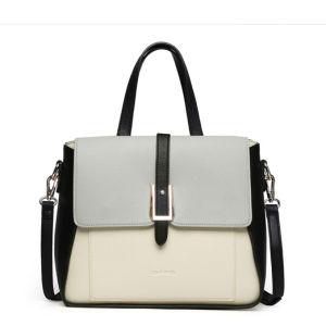 Women PU Shoulder Zipper Dull Polish Handbag with BSCI (ZX10368) pictures & photos