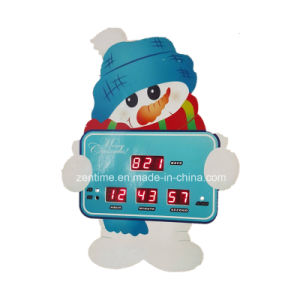 LED Digital Snowman Christmas Countdown Alarm/Table Gift Clock pictures & photos