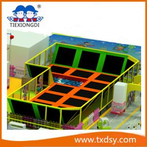 Big Indoor Gymnastic Trampoline in Amusement Park (TXD16-TMP005) pictures & photos