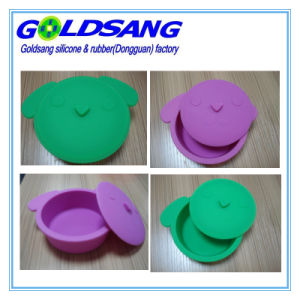 Hot Selling Animal Shape FDA Approved Silicone Bowl with Lid pictures & photos