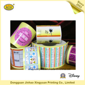 Printing Label Waterproof Self Adhesive Sticker (JHXY-AS00016) pictures & photos