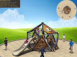 Kaiqi Unique Children′s Slide and Climbing Net Set for Playgrounds (KQ50117A) pictures & photos
