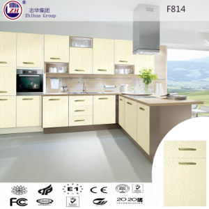 PVC Vuccum Modern Kitchen Cabinet pictures & photos