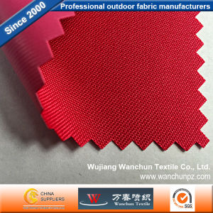 Polyester 300d Red Oxford PVC Fabric for Bag pictures & photos