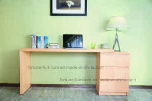 Wooden Veneer Laminated Stretchable Computer Desk with Chest of Drawers (N702A-St) pictures & photos