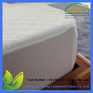 Hypoallergenic Breathable Noiseless Waterproof Queen Size Vinyl Free Mattress Protector pictures & photos