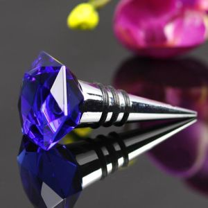 Diamond Crystal Glass Wine Bottle Stopper pictures & photos