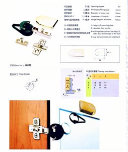 Gh09 30mm Glass Door Hinge Furniture Hinge pictures & photos