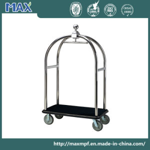 Hotel Silver Bellman Luggage Platform Trolley pictures & photos