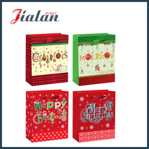 Fashion 128GSM Coated Paper Merry Christmas Carrier Gift Paper Bag pictures & photos