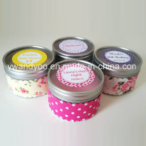 Personalized Scented Soy Tin Candle for Christmas
