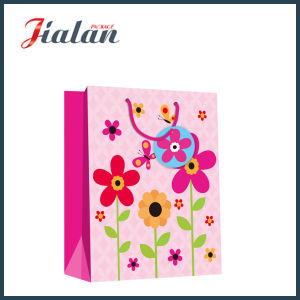Wholesale Sunflowers Design 4c Printed Gift Packing Shopping Paper Bags pictures & photos