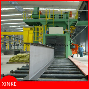 Chanel Steel Rust Remover Roller Conveyor Type Shot Blasting Machine pictures & photos