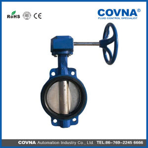 "12"" Cast Iron Manual Butterfly Valve with Hand Wheel pictures & photos"