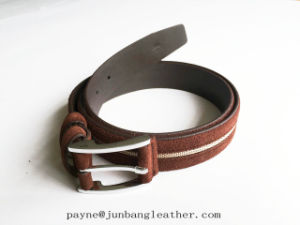 New Design Fashion High Quality Genuine Unisex Suede Leather Belt