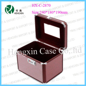 Pink Aluminum Cosmetic Case with Velet Inside (HX-L0805) pictures & photos