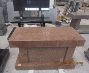 Cheap Price India Red Granite Memorial Bnech Monument pictures & photos